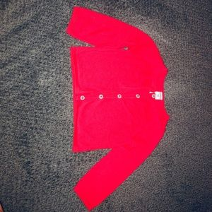 Red baby girl cardigan